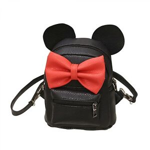 df163166706 Backpack Mickey Mini Bag Women s Bow Teen Rucksack Small Cute Mouse ...