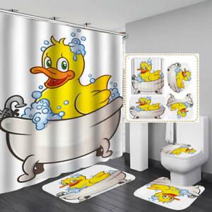 Shower Curtain Bath Mat Toilet Cover