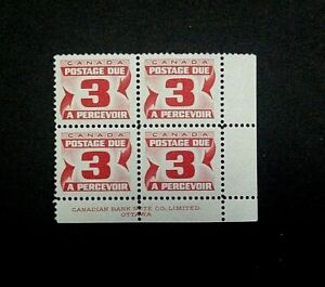 Canada Stamp #J23. MNH. Postage Due Block. (1967) 4x3¢. (Lower Right)
