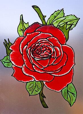 Bild Window Color Fensterbild WiCo Edle Rose (104) Geschenkidee Aufkleber