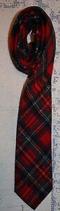 Pendleton-Rojo-Tela-Escocesa-De-Tartan-De-Lana-Hombres-Corbata-8-3cm-x-56-1-3cm