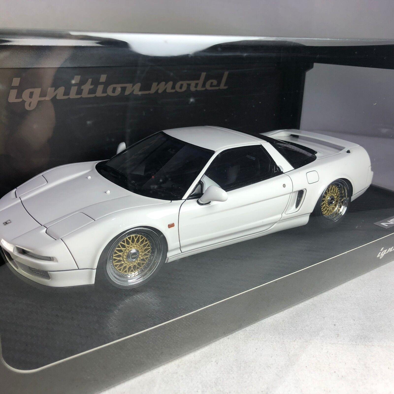 Senza tasse 1 18 18 18 IG ignition  IG0404 Honda NSX NA1 1990 bianca with BBS Ruedas  prezzi all'ingrosso