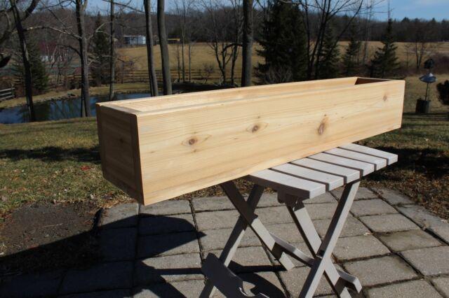 """36/"""" CEDAR WOOD FLOWER BOX PATIO PLANTER BOX DECK GARDEN YARD POT HOME OUTDOOR"""