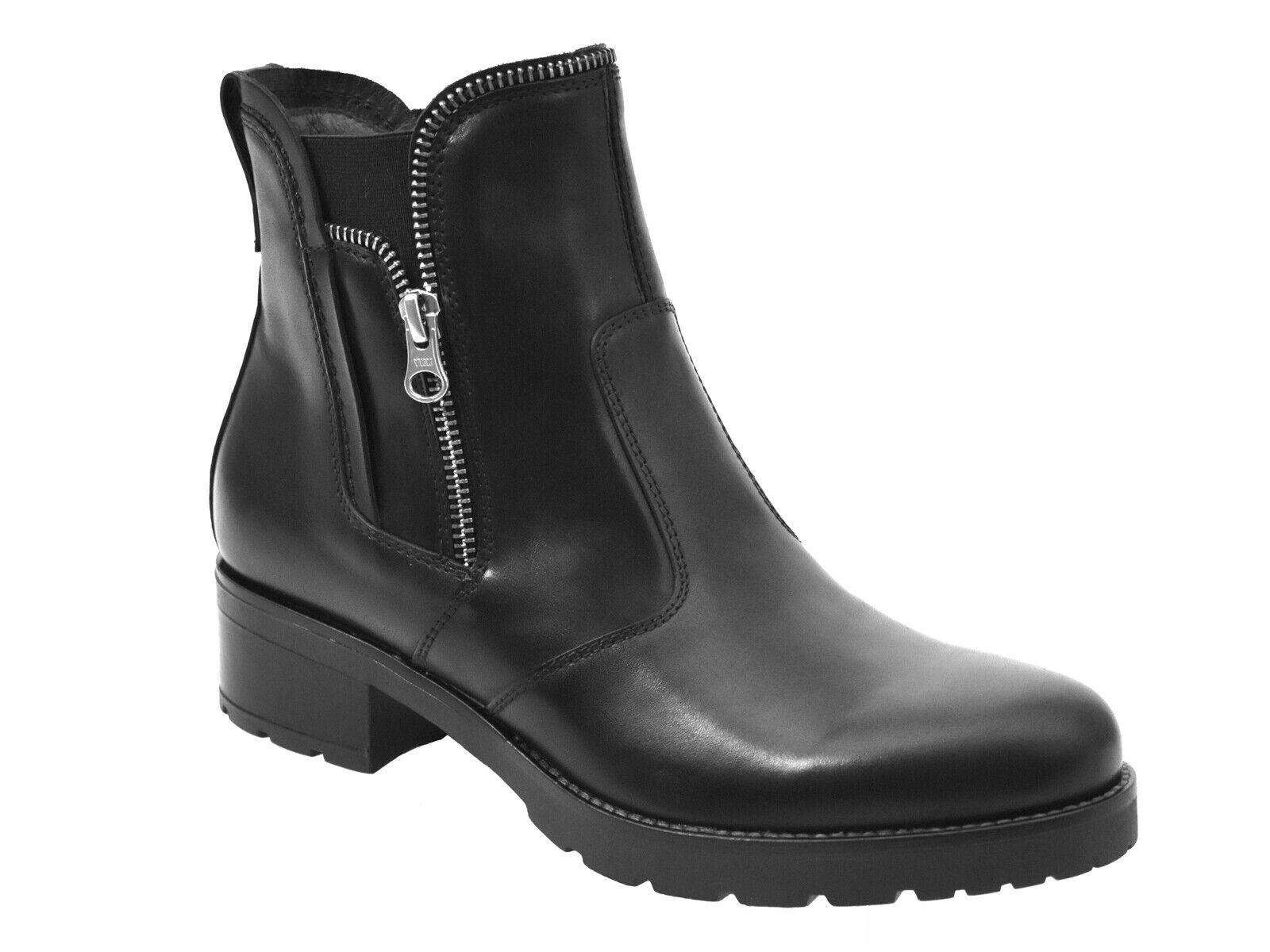 Stiefel BASSI damen schwarz GIARDINI INVERNO A807050D 100  TRONCHETTI schwarz