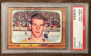 1966 Topps Hockey Bobby Orr ROOKIE RC #35 PSA 2 (Very Good Eye Appeal)