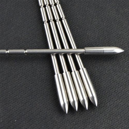 120gr Archery Arrowheads Tips Insert Point ID3.2mm Target Practice Arrow Shaft