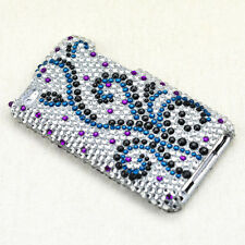 For Apple iPod Touch 4 Crystal Diamond BLING Hard Case Snap Phone Cover Frosty