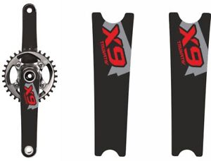 Crank Set Sticker Decal MTB SRAM X0 Mountain Bike Bicycle Adhesive 4 Pcs White