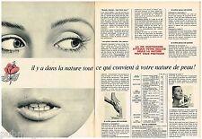 Publicité Advertising 1968 (2 pages) Cosmétique produits de beauté Yves Rocher