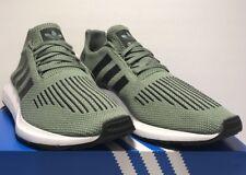 d7ba9f82076e5 Adidas Mens Size 9.5 Original Swift Run Athletic Running Green Shoes CG4115