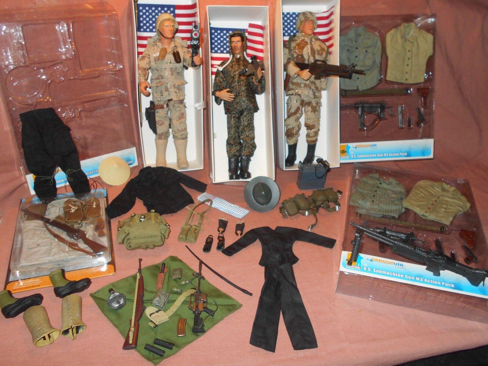 1 6 ACE MIKE FORCE  GI JOE BARON  UNIFORMS GUNS AMMO stivali PLUS READ DESCRIPTION
