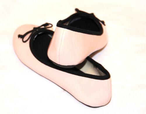 light pink patent ballet SPOT ON flat shoes pumps ballerina size 11 //29 girls