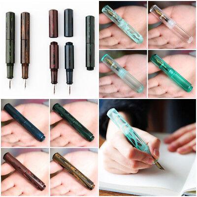 MOONMAN Wancai Mini F Nib 0.5mm Transparent Fountain Pen /& 2Pcs Dropper /& Box !