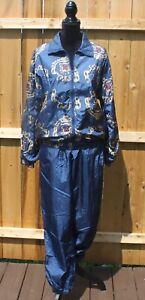 Vintage-Slade-Women-039-s-Track-Suit-Size-S-Retro-80s-90s-Jacket-amp-Pants-Windbreaker