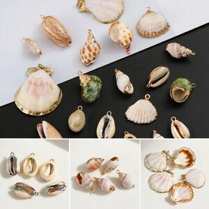 von-Schmuck-Shell-Anhaenger-Halsband-Ohrringe-Natuerliche-Muschel-Conch