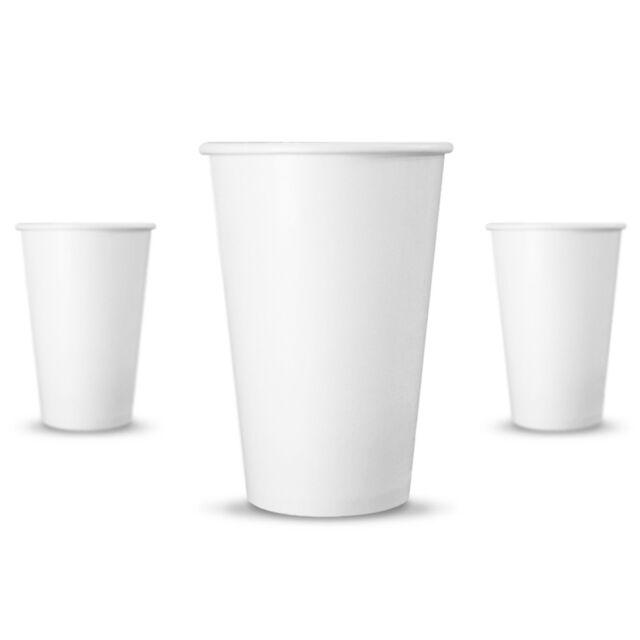 50 Ct 10 Oz Eco Friendly White Paper Hot Tea Coffee Cups Disposable No