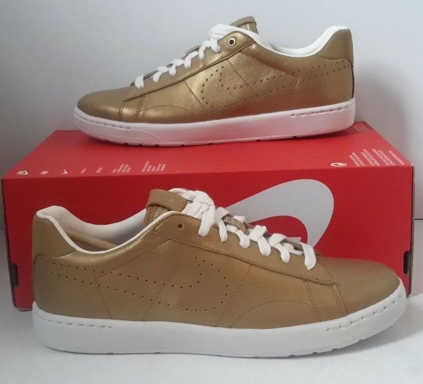 New shoes for men and women, limited time discount NIKE TENNIS CLASSIC ULTRA SEASONAL METALLIC GOLD IVORY 833956-700 MEN Price reduction