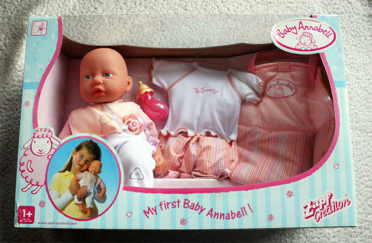 BABY ANNABELL, MY FIRST SERIES. 2004 ZAPF CREATION, RETIrojo  BRAND NEW IN BOX OS