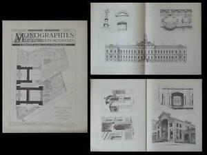 Aix En Provence, Ecole Normale - Gravures Architecture 1890 - Joseph Letz