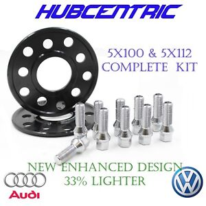 Pair Of 8MM 5x100/5x112 Hub Centric Wheel Spacers 57.1 Hub bore Extended bolts