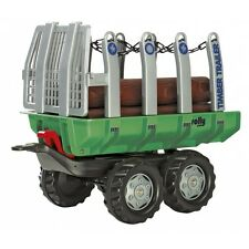 Rolly Toys Timber Trailer Rückewagen Anhänger Ladewagen grün