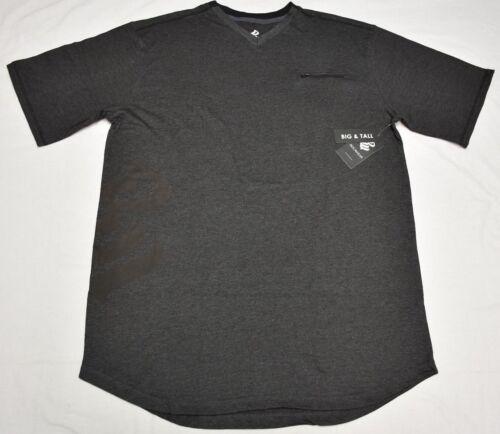 Rocawear T-Shirt Men/'s Transfer Zip Pocket V-Neck Graphic Tee Grey Urban P110