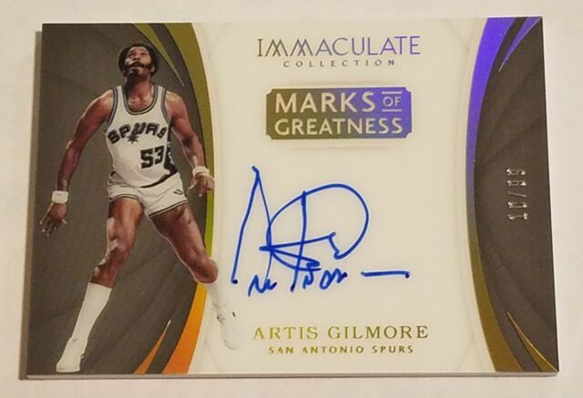 Artis Gilmore 2017-18 Panini Immaculate Marks Of Greatness Auto #/99 Signature