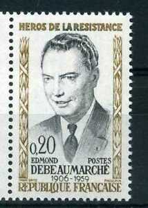 FRANCE-1960-timbre-1248-Heros-Debeaumarche-neuf