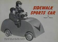 Sidewalk Sports Car 2-Seater Go-Kart 1955 How-To build PLANS