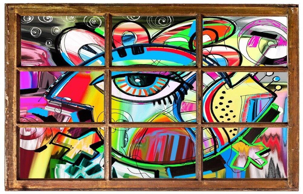 Œil graffiti autocollant abstrait art mural sticker autocollant graffiti h1376 ac0f3d
