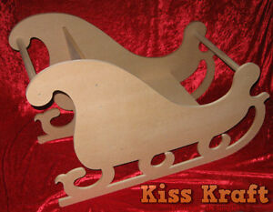 MDF-Wooden-Christmas-Santa-Sleigh-Photography-Prop-RAW-MDF-Flat-Pack