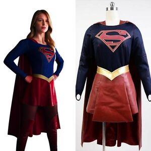 Details about Supergirl Kara Zor-El Danvers Halloween Adult COSplay Costume  Suit Dress Outfit