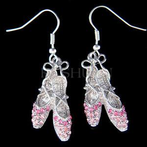 Ballerina Pendant and Dance Shoes Earrings Music Theater Ballet Ballerina Jewelry Set