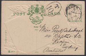 South Africa - Natal 1911 postcard Hotel on Bay Esplanade sent to Australia due