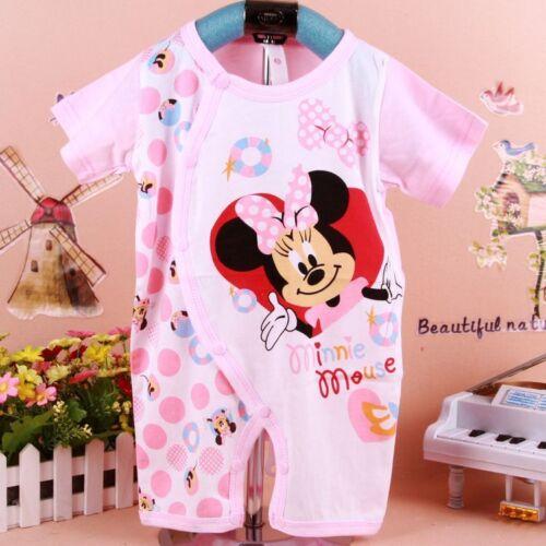 Newborn Baby Boy Girl Minnie Mouse Cotton 0-18M Romper Pants Playsuit Bodysuit