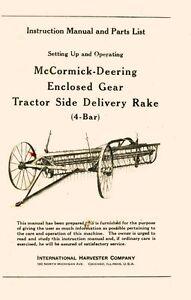 International-McCormick-Deering-4-bar-Side-Delivery-Rake-Gear-Operators-Manual