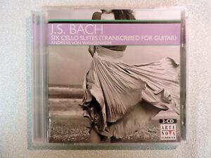 BACH-Six-Cello-Suites-Guitar-2-CD-Set-Von-Wangenheim-Arte-Nova-SEALED