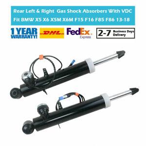 2PCS Rear Suspension Gas Shock Absorbers Fit BMW X5 X6 X5M X6M F15 F16 F85 VDC