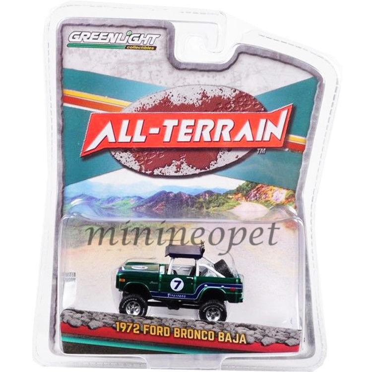 Grünlight 35090 b - all - terrain - reihe 6 1972 ford bronco 1   64 grüne chase baja