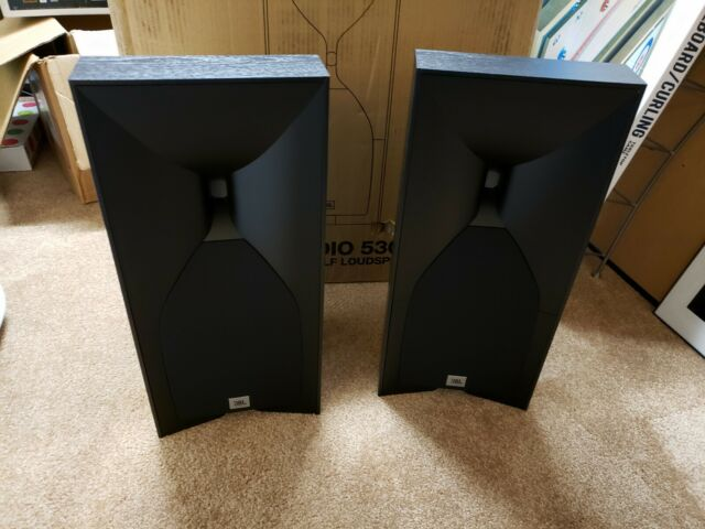 BRAND NEW JBL STUDIO 530 BOOKSHELF SPEAKERS PAIR BLACK OAK 5 25