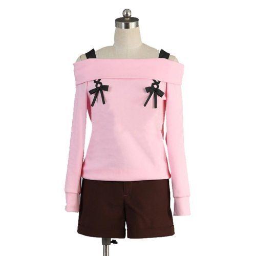 Anime Diabolik Lovers Yui Komori Pink Cosplay Costume Cute Full Suit Equipped