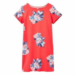 Joules-Riviera-Print-Short-Sleeve-Jersey-Dress-Floral-Red