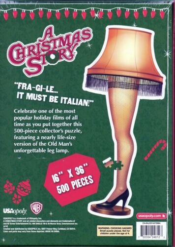 """A Christmas Story™ Leg Lamp Puzzle 500 Pieces 16/""""X36/""""  2014 USAopoly"""