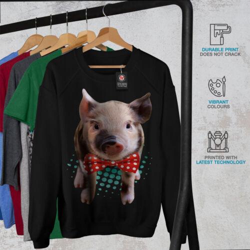 Wellcoda Hippie Pig Cute Animal Womens Sweatshirt Smart Casual Pullover Jumper