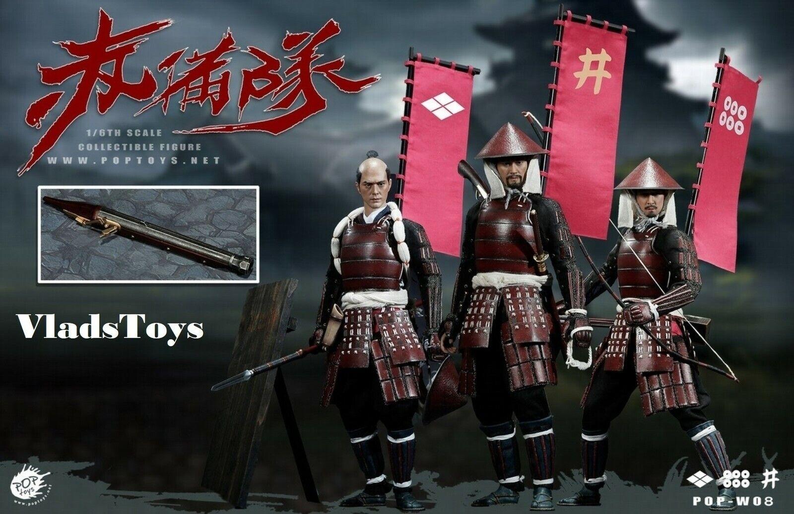 PopToys 1 6 Ashigaru Teppo Spear & Bow & teppo Combination Version W08 USA