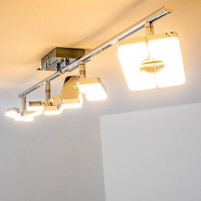LED Design Deckenspot Deckenstrahler Chrom Deckenlampe Deckenleuchte verstellbar