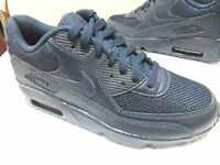 BOYS MENS NIKE AIR MAX 90 MESH GS SPORTS CASUAL RUNNING GYM TRAINERS UK 3 - 6