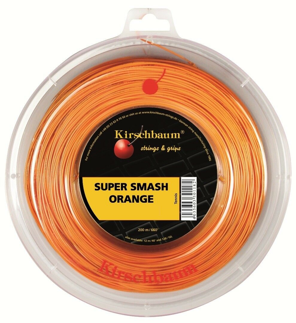 Kirschbaum Super Smash Orange 1,23 mm Tennis Saiten Tennis Tennis Tennis Strings 6833e6