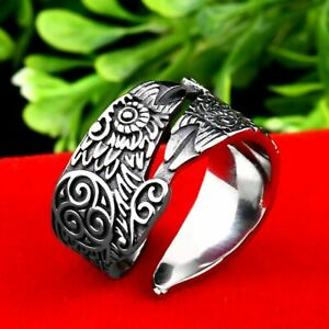 For Men Ring Viking The crow skull Punk Top Quality Stainless Steel Biker Rock Jewellery & Watches Rings