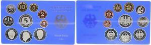BRD Kurssatz Einzelplatte 2001 a 1Pf. bis 5 DM Polierte Platte 55659